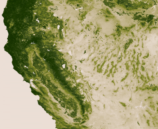 NASA vegetation California