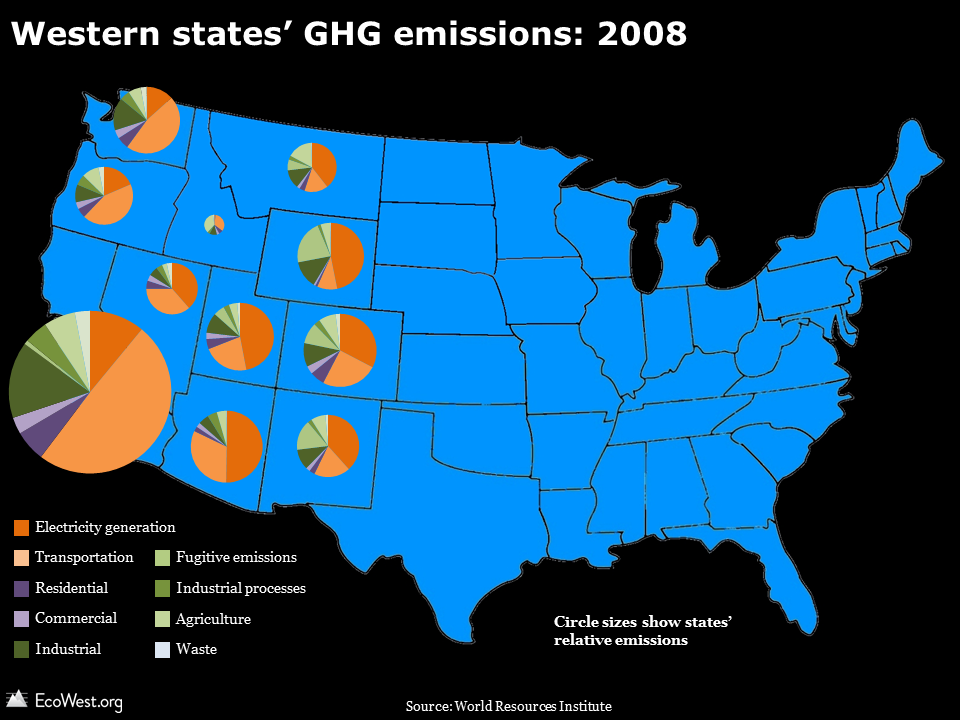 Greenhouse gases: how do Western states compare?