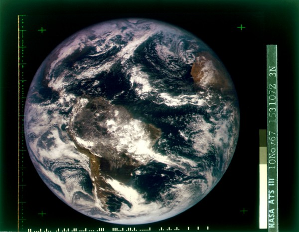 ATS-3 photo of Earth