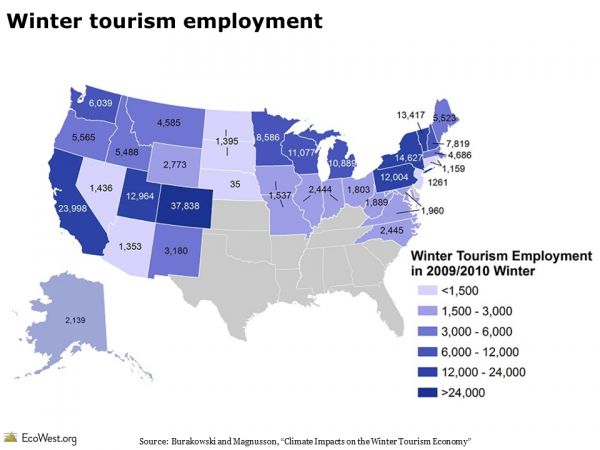 Winter tourism employment