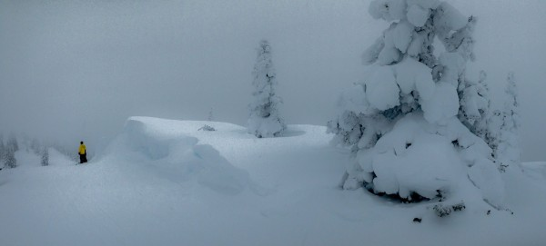 Snow drifts on Continental Divide
